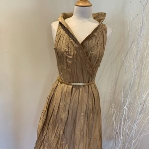 Ladies Gold dress size L (fits like a S or M)
